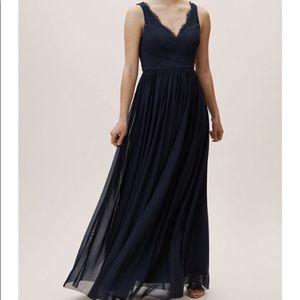 BHLDN Nouvelle Fleur Midnight Dress Size 4